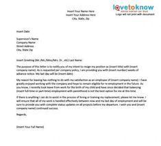 17 best resignation letter images on pinterest professional