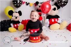 ... Classic mickey mouse cake smash with Landon by The Flash Lady Photography ...