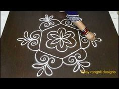latest muggulu rangoli designs with dots -simple kolam designs -easy rangoli designs with dots - YouTube