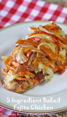 7. Baked Fajita Chicken #healthy #dinner #recipes http://greatist.com/eat/healthy-weeknight-recipes