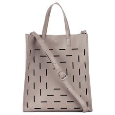 Grey Tote with Cut-Outs.