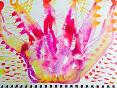This is from the 7th day in the 21 Day painting meditation--painting the magenta color that is often associated with our crown chakra.