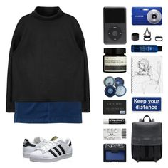"""nine in the afternoon"" by becauseallycan ❤ liked on Polyvore featuring Aéropostale, Charlotte Russe, NARS Cosmetics, Aesop, Anya Hindmarch, Bumble and bumble, adidas Originals, Chapstick, women's clothing and women"