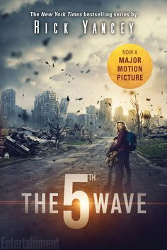 Rick Yancey's sci-fi adventure, The 5th Wave. is headed to the big screen next year, and EW can exclusively reveal the cover of the movie tie-in edition of the book, below.  The 5th Wave, the first in a trilogy, follows Cassie, a girl on the run after four deadly attacks have wreaked havoc on Earth. Desperate to find her brother before the fifth wave hits, she joins forces with a boy whom she's not sure whether she can actually trust – but she doesn't have much of a choice.