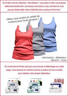 Tuto Débardeur basic couture surjeteuse (pdf gratuit elna)