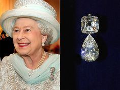 Official Diamond Jubilee portrait of British monarch HM Queen Elizabeth II photographed in the Centre Room of Buckingham Palace Elizabeth Ii, Queen Elizabeth Grandmother, Queen Elizabeth Jewels, Royal Crowns, Royal Tiaras, Tiaras And Crowns, British Crown Jewels, Royal Queen, Queen Mary