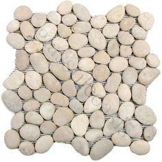 chateau pebbles & stones grey river rock tiles tumbled natural