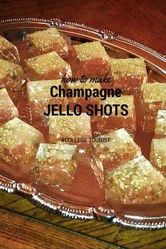 How to Make Champagne Jello Shots #EdibleGlitter
