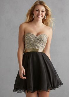 94242df1d50 Black And Gold Short Homecoming Dress