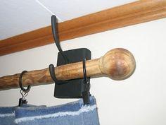 Black Copper DIY: DIY Curtain Rod & Brackets