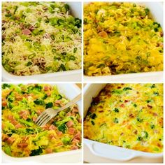 This low-carb breakfast casserole has a lot of broccoli, ham, and Mozzarella baked with just enough eggs to hold it together! Paleo Recipes, Low Carb Recipes, Cooking Recipes, Mozzarella, Breakfast Time, Breakfast Recipes, Low Carb Breakfast Casserole, Eggs Low Carb, Clean Eating