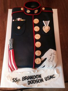 A USMC cake for a very deserving Marine celebrating his alive date, August It was my honor and pleasure to do this cake for him. God Bless you SSgt. Marine Cake, Military Cake, Usmc, Marines, Simple Weddings, Amazing Cakes, Celebrities, Wedding Ideas, Dessert