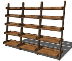 Ana White   Build a Leaning Wall Shelf   Free and Easy DIY Project and Furniture Plans