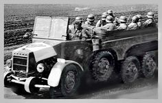A Hungarian military all-terrain truck, named Botond and manufactured by the Raba factory in Gyor, is on the move transporting infantry. Car Wheels, Armed Forces, Military Vehicles, Wwii, Antique Cars, Transportation, Army, Trucks, History