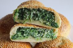 Ravazzate con spinaci, ricotta e mozzarella