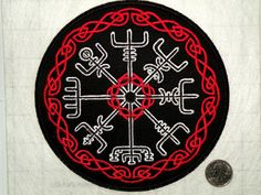 This is a Nordic rune, it is said that the bearer of this rune will never be lost, even if they dont know where they are going. Vegvisir iron on