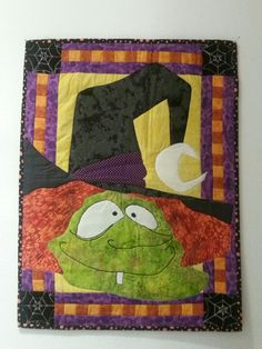 Halloween Hag Quilted Wall Hanging I made for grandchildren