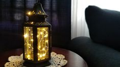 OLD WEST Stagecoach Battery Operated Lantern, Table Lamp, Black, LED Fairy String Lights, Rustic, Battery Lamp, Whimsical Battery Operated Lanterns, Battery Lamp, Hurricane Lanterns, Hanging Lanterns, Rustic Table Lamps, Led Fairy Lights, Rustic Lighting, Old West, Glass Panels