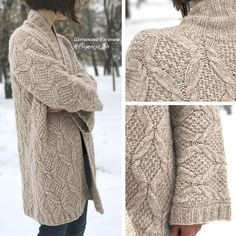 cabled sweater coat, neutral knits