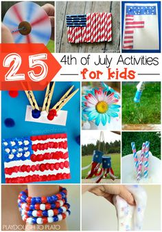 Must-try 4th of July Activities for Kids. Tons of fun math, science, literacy and crafts.