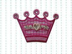 Hey, I found this really awesome Etsy listing at https://www.etsy.com/listing/164895360/pink-crown-iron-on-patch-applique