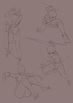 Action Pose Reference, Body Reference Drawing, Anime Poses Reference, Drawing Base, Figure Drawing, Sketch Poses, Poses References, Anime Drawings Sketches, Art Poses