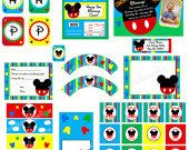 Mickey Mouse clubhouse inspired party with by wallalooprints, $12.00