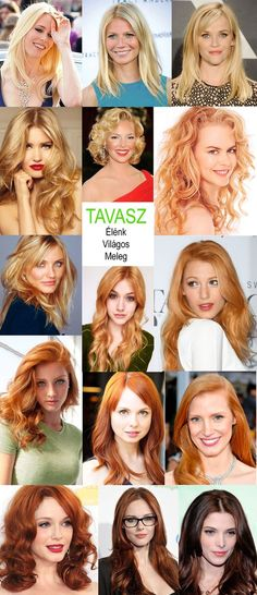 hajszínek a tavasz típushoz s Clear Spring, Bright Spring, Warm Spring, Hairstyle, Hourglass, Color, Type, Hair Job, Hair Style