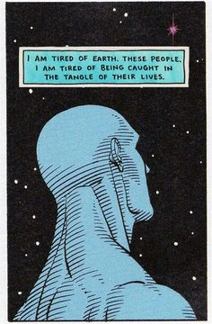 Dr. Manhattan from one of my all-time favorite graphic novels, The Watchmen.