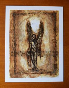 Fallen Angel Digital print Premium Satin Photo Paper 300 gm | Etsy #fallenangel #bookofenoch #angel #fallen #enoch biblical Mystic, Digital Prints, Vintage World Maps, Angel, Paper, Fall, Painting, Etsy, Fingerprints