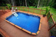 Piscines semi creus es on pinterest piscine hors sol for Piscine semi creuse