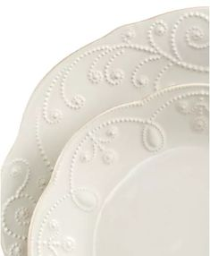 Decorating Your Home in Shades of White Stoneware Dinnerware, White Dinnerware, Dinnerware Sets, Lenox French Perle, Ice Blue Color, Tea Stains, Place Settings, Table Settings, Hand Embroidery
