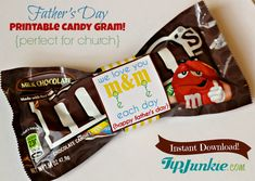 M Candy Bow Tie for Father's Day - Printable Wrapper - Candy Gram - Church Gift… Easy Father's Day Gifts, Gifts For Dad, Fathers Day Crafts, Happy Fathers Day, Father's Day Printable, Candy Quotes, M M Candy, Candy Grams, Church Crafts