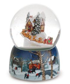 Musical Rotating Village Snow Globe Figurine #zulily #zulilyfinds