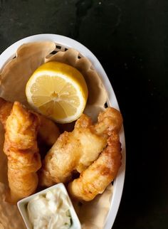 Beer-battered haddock with a little cayenne pepper