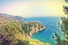 Far away shot of Corniglia, Cinque Terre