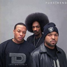 Dr Dre, Snoop Dogg & Ice Cube - obviously different to my usual music style but I do like these three artists work sometimes