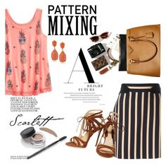 """""""Pattern Mixing"""" by clotheshawg ❤ liked on Polyvore featuring Emanuel Ungaro, Chelsea Paris, Ardell and Kenneth Jay Lane"""