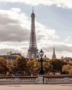 Beautiful Paris in the fall