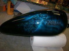 harley davidson wolf airbrush