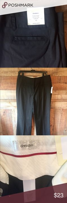 "Dress Barn black pants NWT Dress Barn wide leg pants.  2 front & 2 rear pockets.  Size 10, waist 16.5"" across x 31"" inseam x 11"" rise.  Never worn, tags attached! Dress Barn Pants Trousers"