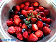 Carole's Chatter: Macerated Berry Salad Berry Salad, Fruit Salad, Saffron Recipes, Raspberry, Strawberry, Vanilla Recipes, Quotations, Blueberry, Berries