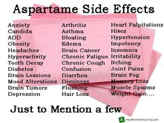 Aspartame side effects, not something you think about every day but the FDA does, 80% of all their complaints are about aspartame