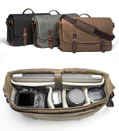 """The Union Street"" camera and laptop messenger bag by ONA.....I WANT IT!!!"