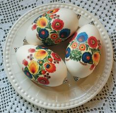 Polish design on goose eggs...