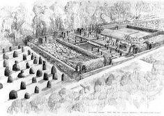Tom Stuart-Smith: Sketch of Broughton Grange garden, Oxfordshire