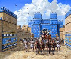 Nabucodonosor II y la puerta de Ishtar, Babilonia