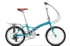 Durban Metro Special Edition Turquoise foldable bicycle for adults and big kids