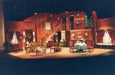 Neat concept from Arsenic and Old Lace set...interesting corner room