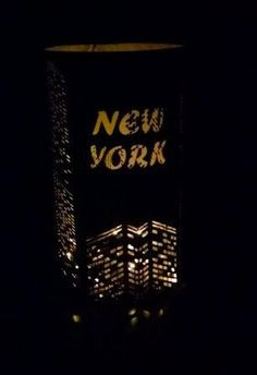 DIY Big city lights New York extra large skyline by hilemanhouse Ny Skyline, Houston Skyline, Dallas Skyline, London Skyline, Chicago Skyline, New York Dance, Nativity Star, Dollar Tree Vases, Church Fundraisers